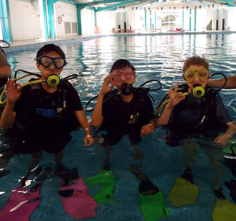 Boarders Try Diving